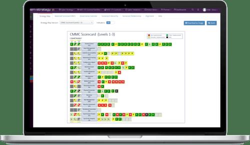 Screenshot +Cyber - CMMC Scorecard - LAPTOP