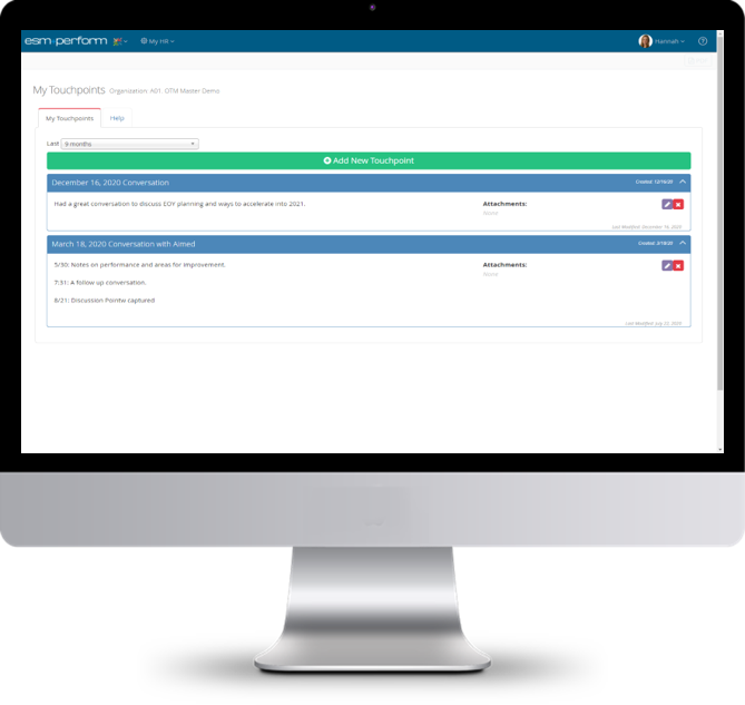 Screenshot +Perform - Touchpoints DESKTOP