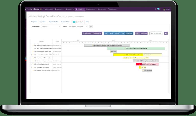 Screenshot +Strategy - Initiatives Ghantt Chart - LAPTOP