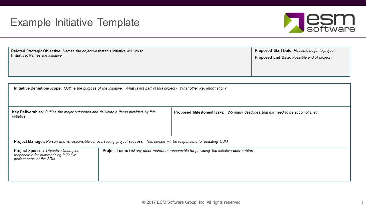 Example Initiative Template