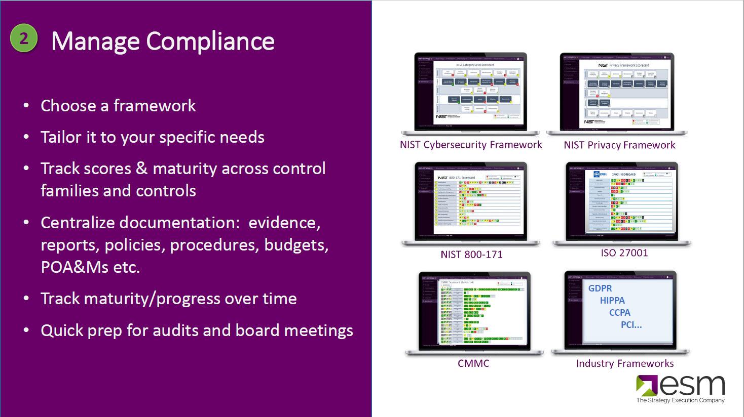 Cyber Frameworks and ESM