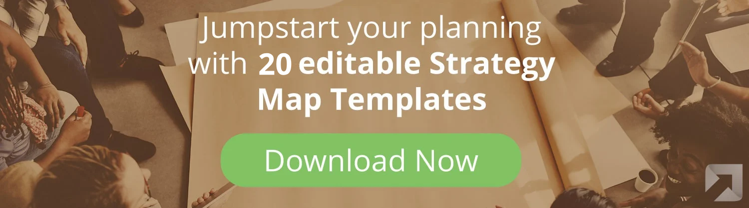 Save time with ESM's strategy map template pack in PowerPoint