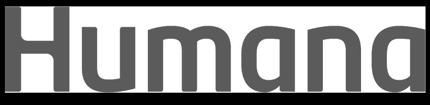 Humana Company Logo grayscale